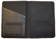 Black Bound Leather Journal Cover