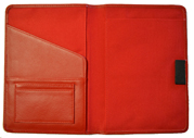 Red Bound Leather Journal Cover