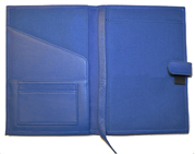 Inside of Blue Premium Leather Journal Cover